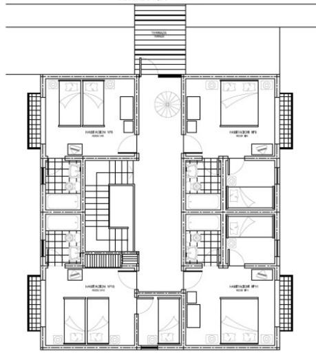 Planos del hotel hotel y departamentos el castillo niebla for Planos de piletas de natacion